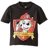 Paw Patrol Little Boys' Toddler Short Sleeve T-Shirt, Black, 2T