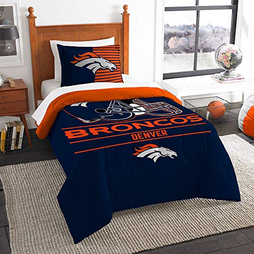 Nfl Comforter - The Northwest Company NFL Denver Broncos Twin Comforter and Sham, One Size, Multicolor