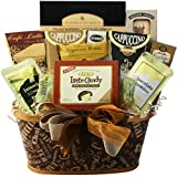 Crazy for Coffee Gourmet Food and Snacks Gift Basket (Chocolate Option)