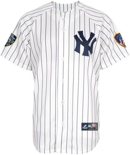 New York Yankees 9/11 Commemorative Majestic Replica Jersey w/ NYPD & FDNY Patches
