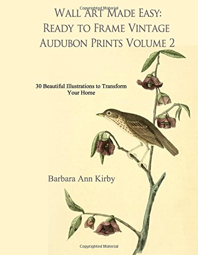 Wall Art Made Easy: Ready to Frame Vintage Audubon Prints Volume 2: 30 Beautiful Illustrations to Transform Your Home