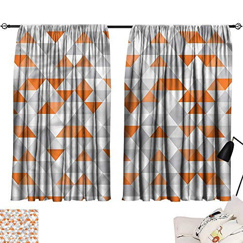 Argyle Triangle Top - Two Panels Darkening Curtains Geometric,Triangles Argyle Zigzag,top Curtain for Living Room W84 x L72