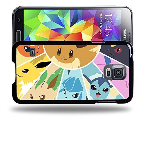 Case88 Designs Pokemon Eevee Jolteon Flareon Vaporeon Protective Snap-on Hard Back Case Cover for Samsung Galaxy S5