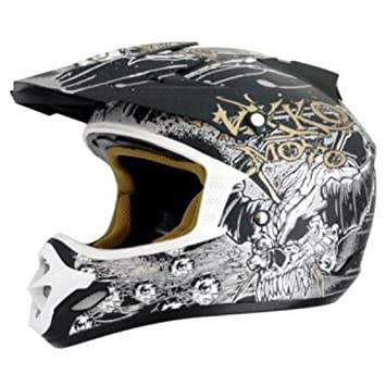 Nikko n-719 – Casco de Motocross (Talla XL), color negro y