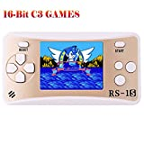 ZHISHAN Handheld Game Console for Children Built in 168 Classic Old Games Retro Arcade Gaming Player Portable Playstation Boy Birthday or Xmas Gift (Gold)