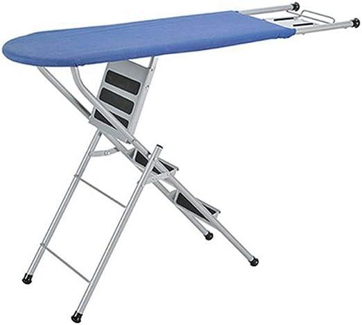 Tabla de Planchar Hogar de altura ajustable de 4 patas tabla de planchar Escalera Tipo Tabla de planchar plegable es conveniente, firme y estable (Color : Azul , tamaño : 95*35*84cm) : Amazon.es: Hogar