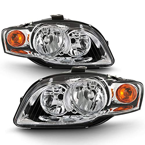 ACANII - For [Halogen Model] 2006-2008 Audi A4 S4 Headlights Factory Style Headlamps Assembly Replacement Left+Right