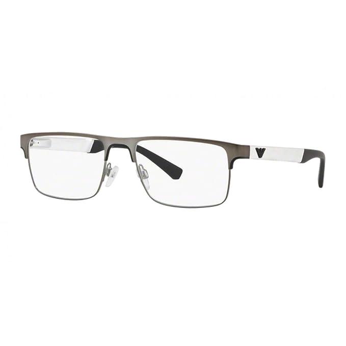Emporio Armani 0EA1075, Monturas de Gafas para Hombre, Matte Green, 53