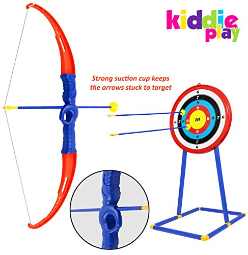 Kiddie Play Toy Archery Set for Kids with Target Bow and Arrow Kids Toys Age 5, 6, 7, 8, 9 Years Old Boys and Girls by Kiddie Play (Image #2)