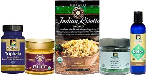 Komal Herbals 'Satvik' Ayurvedic Cleanse Kit, USDA Certified Organic by Kazana Whole Foods & AyurBest