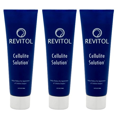 Revitol Cellulite Reduction Cream - Reduce Appearance of Cellulite, Get Rid of Cellulite Dimples ~ 3 Tubes