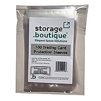 storage.boutique Large Trading Card Protection Sleeves, Acid Free, 100 Peel & Seal - Panini Lego Topps Star Trek Star Wars etc