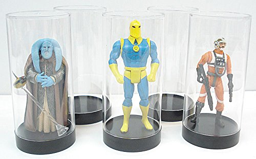 Protech Acrylic Cylinder Display Case for Star Wars, GI Joe and Other Qty of 5 (Case Wars Star Figure)