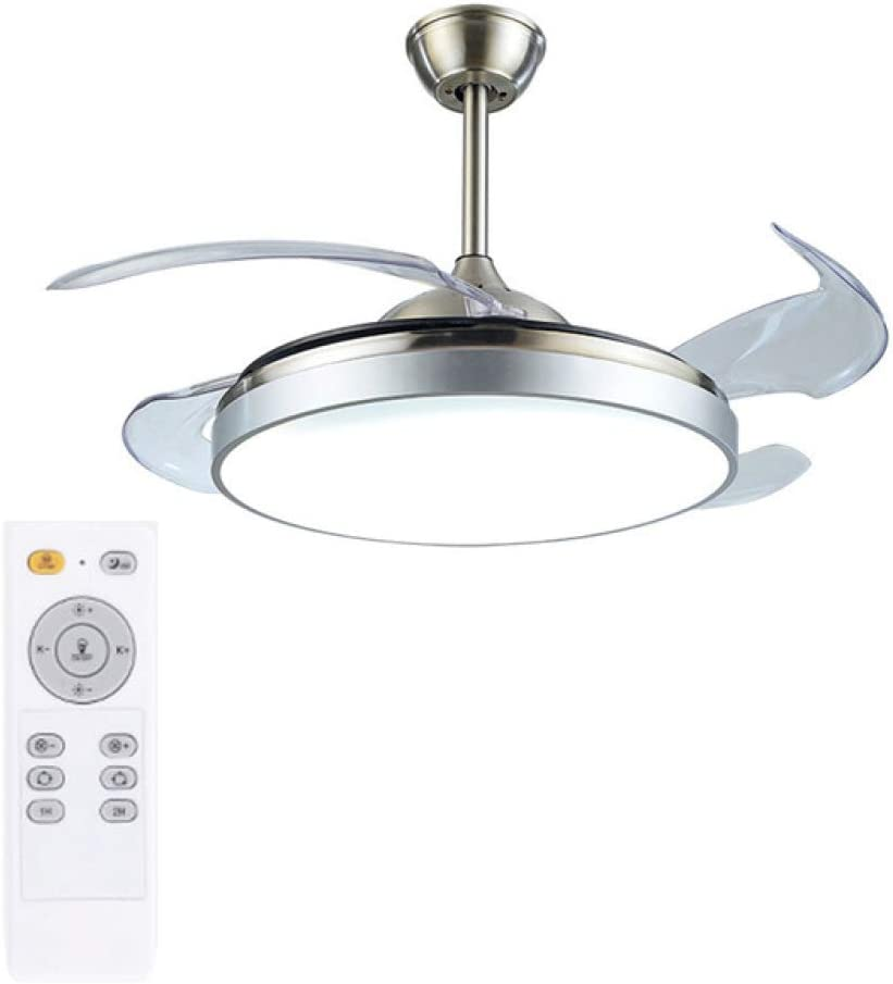 MLDSJQJ Lámpara de Ventilador de Techo Control Remoto atenuación ...