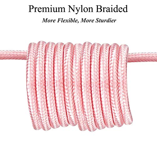 iPhone Charger 6ft 2Pack Aioneus Mfi Certified Lightning Cable Fast Charging Nylon Braided Phone Charger Cord Compatible with iPhone 12 Pro Max 11 Pro Xr Xs Max 10 8 Plus 7 6 6s 5c,SE 2020,iPad
