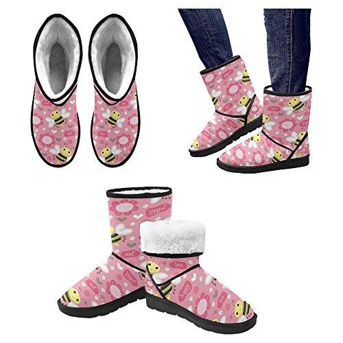 InterestPrint Womens Snow Boots Unique Designed Comfort Winter Boots Multi 23 kLrYaJ