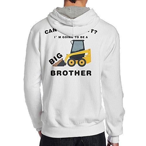 Mens Big Brother B Boy Vintage Hoodie Hoodies Size M White