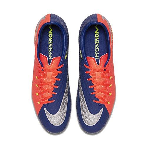 Nike Hypervenom Phelon III FG, Scarpe da Calcio Uomo blu / arancio