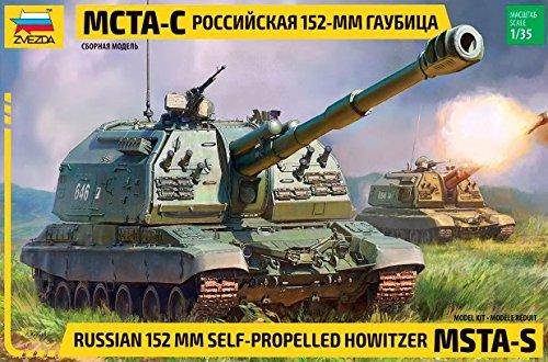 Zvezda 1/35 Russian MSTA-S 152mm Self-Propelled Howitzer Gun Tank (Russian Self Propelled)