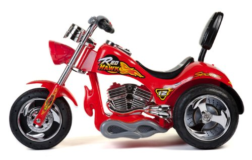 Red Hawk Motorcycle 12V in Red by Big Toys (Image #1)