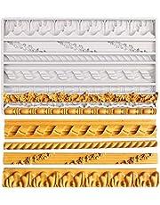 Cake Border Fondant Mold, Vintage Frame Silicone Mold for Cake Decorating, Gumpaste, Polymer Clay, Resin and Plaster
