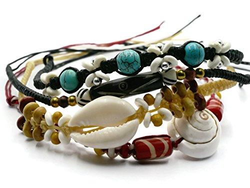 BrownBeans, Macrame Cord Reggae Summer Casual Wear Anklet Bracelet (CBCT7000) (T)