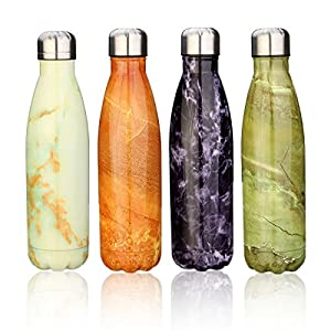 KING DO WAY Double Wall Vacuum Insulated Stainless Steel Water Bottle, Violet Jadeite, 17 Ounce