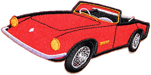 Super Classic Car Model Hot Rod Kid Baby Jacket T-shirt Patch Sew Iron on Embroidered Applique Sign Badge Costum - Ferrari Sweatshirt Embroidered