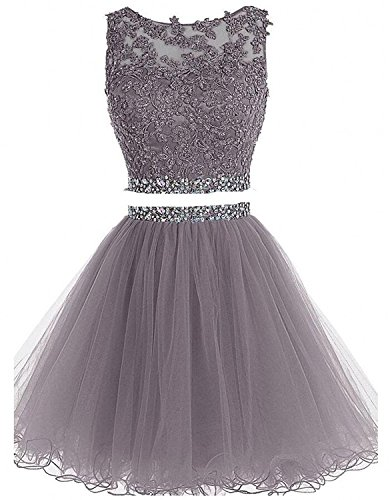 Two Piece Prom Dress Short Beading