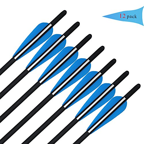 JY Crossbow Bolts Outdoor shooting Arrows Archery Hunting Arrow Replaceable Tips 12Pcs/box (20'') - 20' Crossbow Bolts