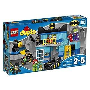 LEGO DUPLO DC Comics Super Heroes Batman Batcave Challenge 10842, Preschool, Pre-Kindergarten, Large Building Block Toys for Toddlers - 51AHGEsxB6L - LEGO Duplo Batcave Challenge 10842