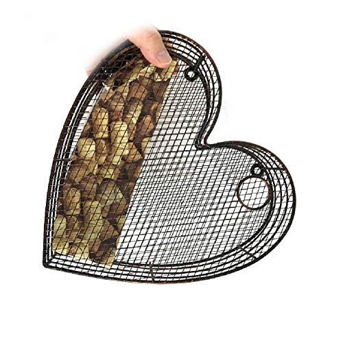 Metal Tabletop or Wall Hanging Heart Wine Cork Holder by AttractionOil Gifts