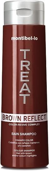 Montibel.lo Color Reflejarán Color Revitalizante Champú 300ml - Marrón para marrón/castaño reflejos