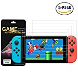 5 Pack Nintendo Switch Screen Protector PET Full Coverage Highly Definition Screen ProtectorAnti-Glare & Anti-Fingerprint (Matte) Shield Lifetime Replacements Warranty Retail Packaging by FENGWANGLI