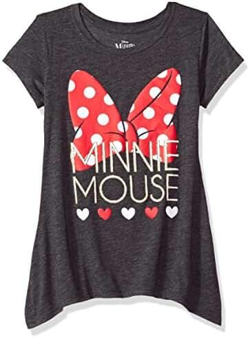 Disney Big Girls' Minnie Mouse Sharkbite Tee