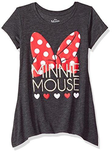 Disney Big Girls Minnie Mouse Sharkbite Tee