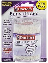 The Doctor's BrushPicks | Interdental Toothpicks | 275 Count | Pack of 4 | Safely Removes Food Debris