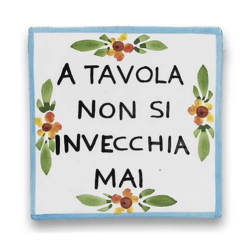 Hand Painted Proverb Plaque – Handmade in Italy