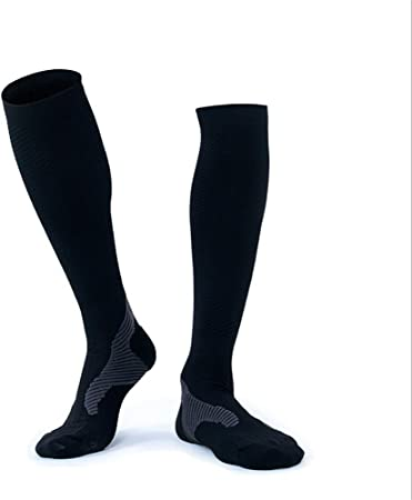 Calcetines de compresión de manga larga Calcetines de compresión de los hombres negros clásicos Pack de 1 par Medias deportivas para correr edema atlético médico Venas varicosas diabéticas de viaje Em: Amazon.es: