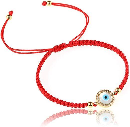 3Pcs Blue Turkish Evil Eye Protection Kabbalah Red String Lucky Jewelry Bracelet
