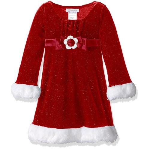 Mesh Emma Dress - Bonnie Baby Baby Girls' Glitter Santa Emma Dress (6/9 Months)
