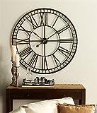 Garden of Eden Collection Oversized Metal Wall Clock 40''D