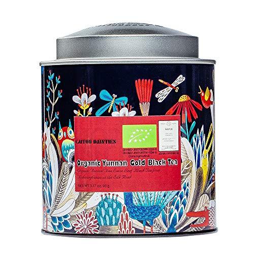 Organic Black Tea - Yunnan Gold Loose Leaf Breakfast Tea - Imported Tropical Black Tea with High Caffeine - 200-250 Cups