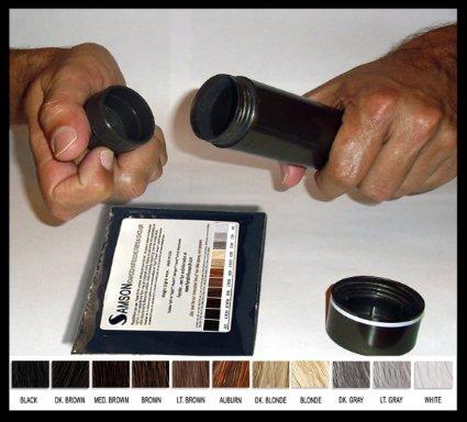 Samson Hair Microfibras de queratina antipérdida de cabello, recarga de 25 gr. 25gr Castano