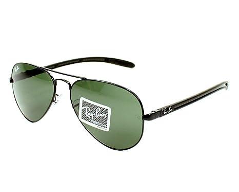 6fa201e357dc11 Ray Ban Sunglasses RB 8307 RB8307 002 Carbon Fibre Black Green Grey   Amazon.co.uk  Clothing