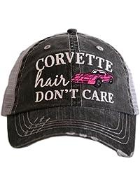 Corvette Hair Don t Care Women s Trucker Hats Caps by Katydid 4c5eac3f9fd2