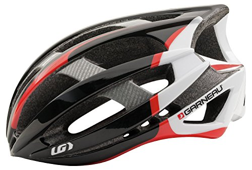 Louis Garneau 2015 Quartz II Cycling Helmet Black/Red-Small