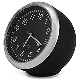 AutoLover Portable Auto Time Luminous Car Mechanics Quartz Clock Digital Pointer