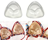1Pair Gel Triangle Bra Inserts Breast Chest Swimsuit Pads Enhancers Push-up Molding Pad