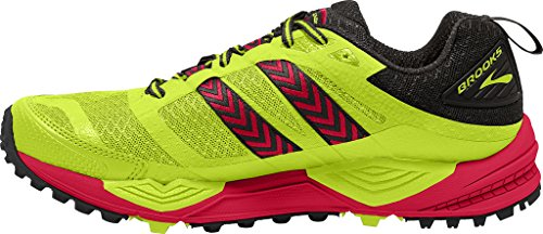 Brooks CASCADIA 12, Scarpe trail-running uomo LimePopsicle/Toreador/Black